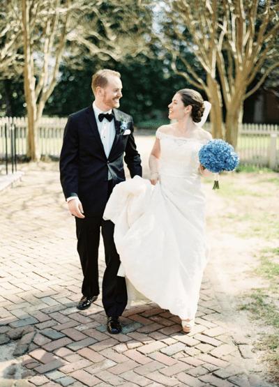 свадебный букет невесты голубой