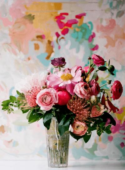 свадебный букет пионовые розы