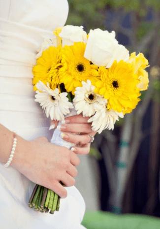 свадебные букеты из гербер фото