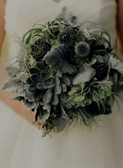 свадебный букет в зеленом цвете
