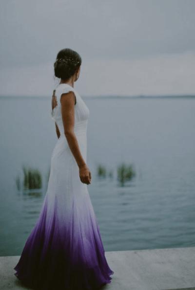 свадебные букеты с фиолетовыми цветами
