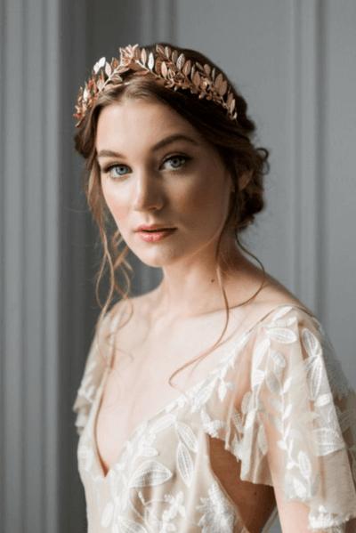 свадебные прически с венком