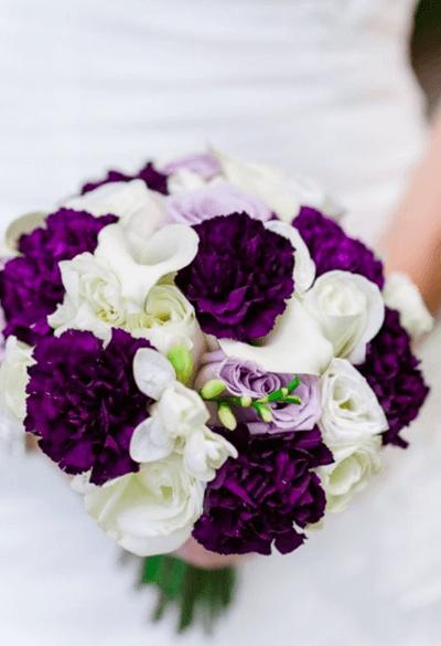 свадебный букет зимний вариант