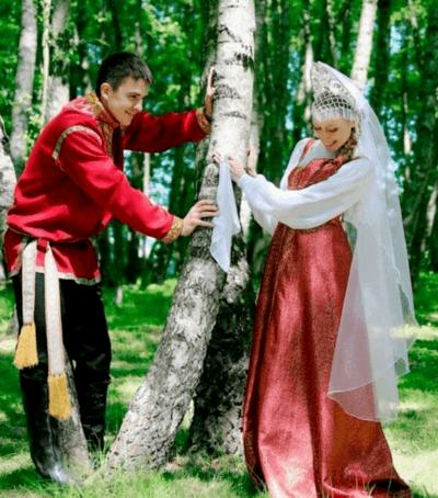свадебные наряды в русском стиле