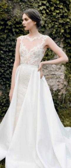 белое платье футляр на свадьбу
