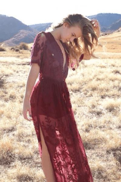 платье свадебное бордовое