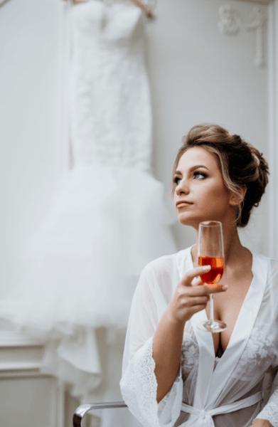 будуарный халат для утра невесты