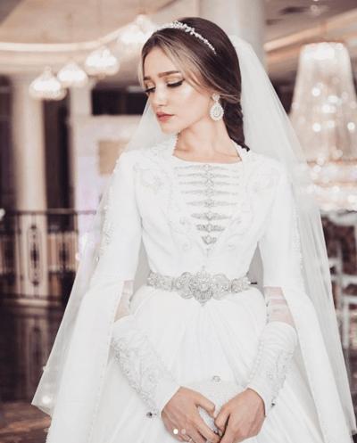 свадебное национальное чеченское платье