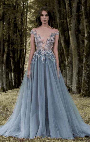 свадебные платья разного цвета