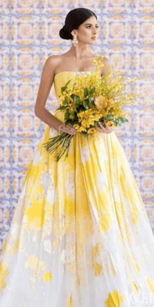 Каких цветов бывают свадебные платья