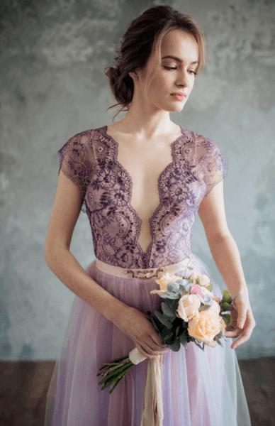 сиреневые платья для подружек невесты фото