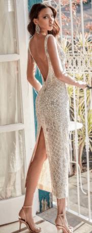 коктейльные свадебные платья