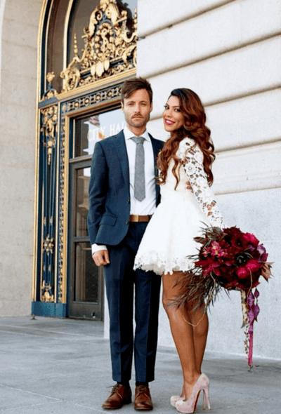 свадебные платья короткие европейские современные