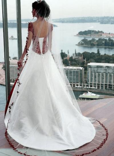бело красное свадебное платье фото