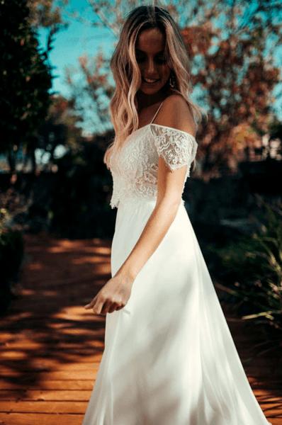 легкое свадебное платье фото