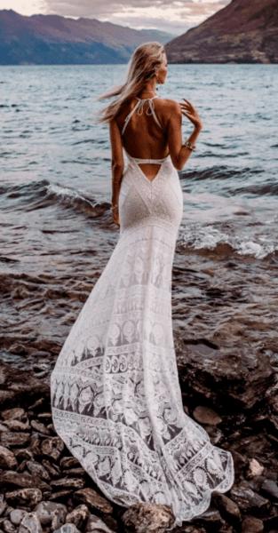 кружевное легкое свадебное платье