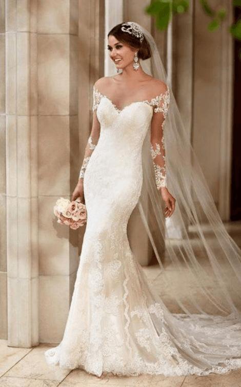свадебные платья в пол фото не пышные