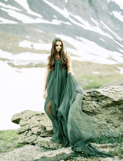 зеленое платье подружки невесты