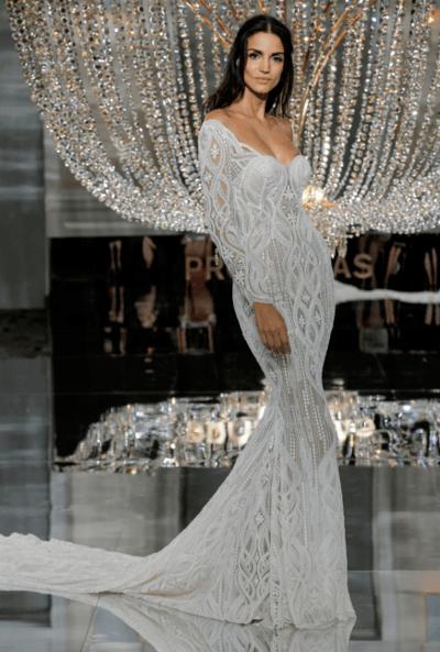 облегающее свадебное платье