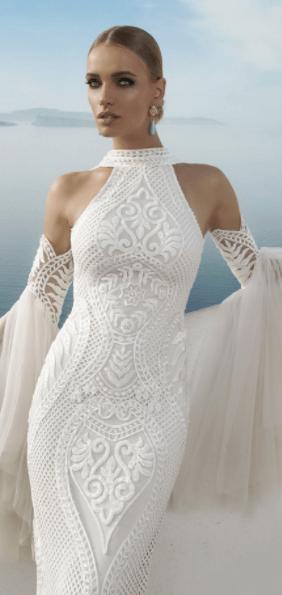 обтягивающие свадебные платья