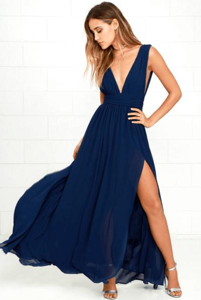 свадебные платья синего цвета фото