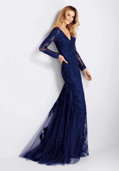 синее свадебное платье фото