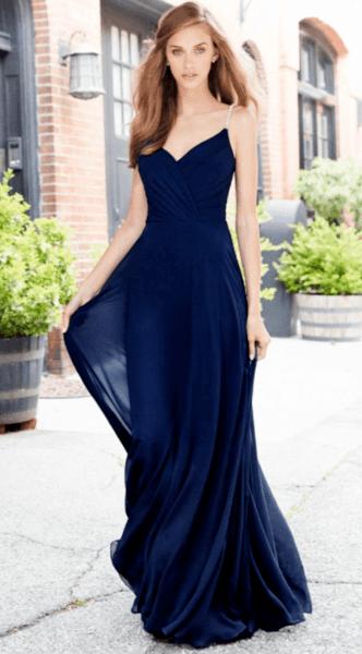 свадебные платья с синей лентой