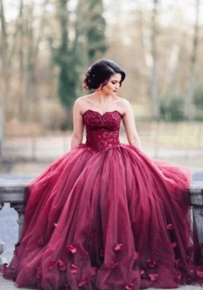 бордовое платье на свадьбу