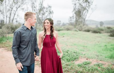 бордовые свадебные платья