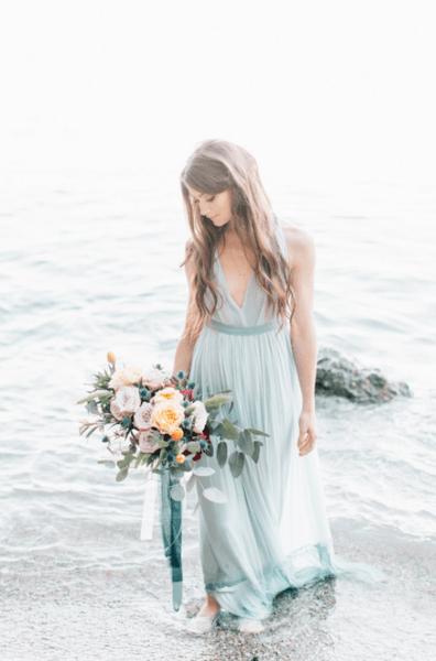 свадебные платья для морской свадьбы