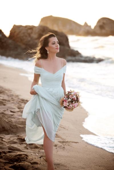 легкое свадебное платье для пляжа