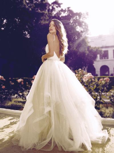 фатиновое свадебное платье