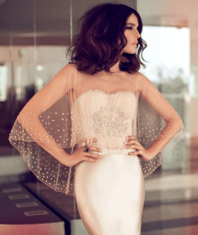 кремовые свадебные платья фото