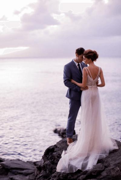 свадебные платья цвет морской волны