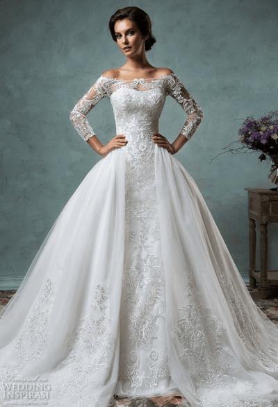 свадебное платье силуэт принцесса