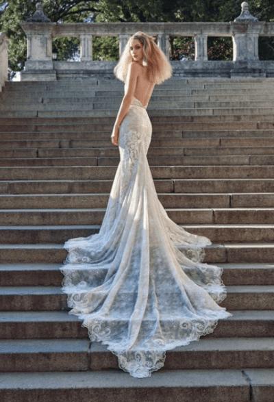 свадебные платья с заниженной талией