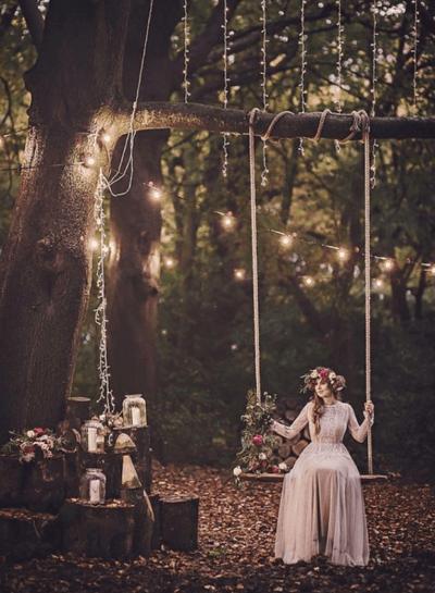 свадебные платья в стиле прованс фото