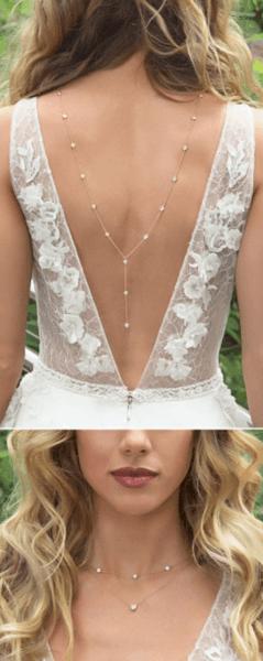 девушка в свадебном платье спиной