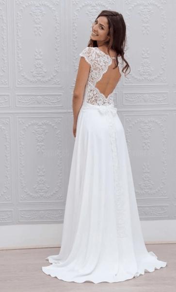 свадебные платья с красивой спиной