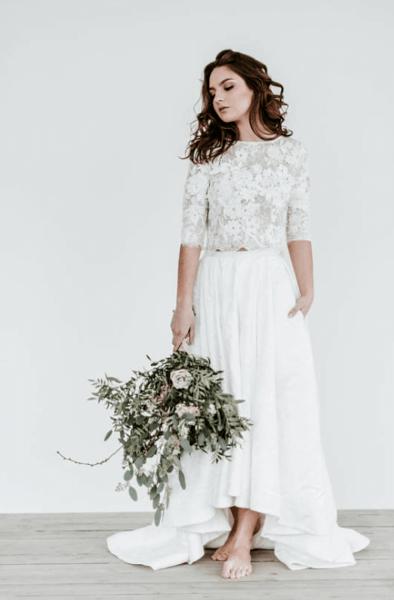 свадебное платье юбка и топ
