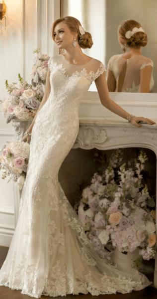 свадебные платья в цвете шампань