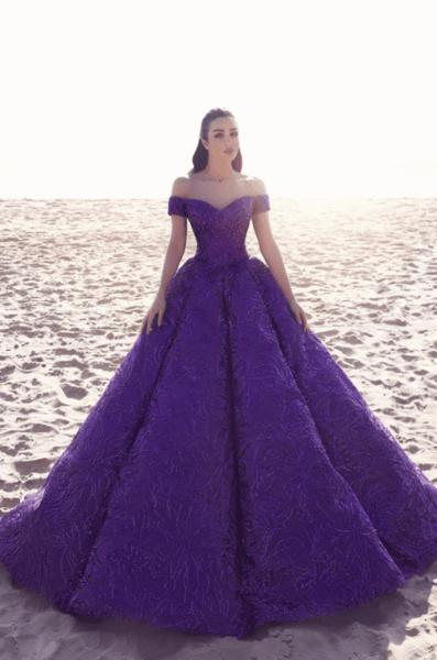 фиолетовые платья на свадьбу