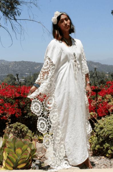 вязаные свадебные платья крючком