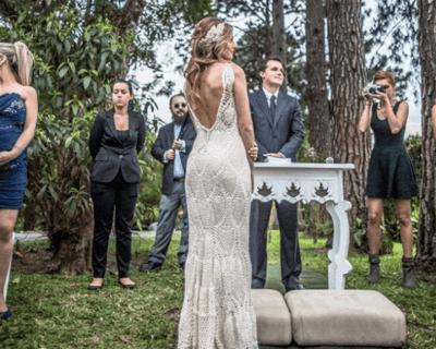 свадебное платье связанное