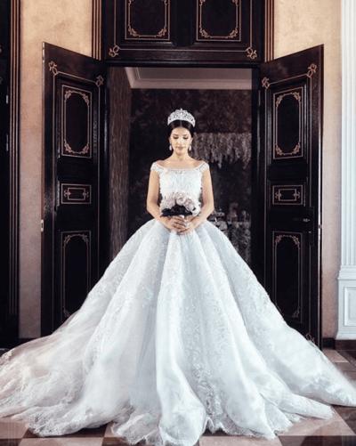 свадебные платья кекс