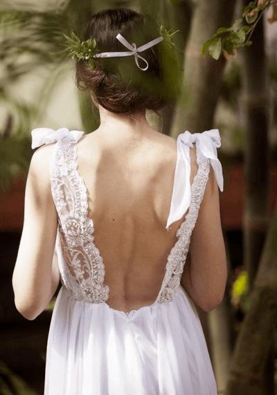 свадебные платья в стиле бохо фото