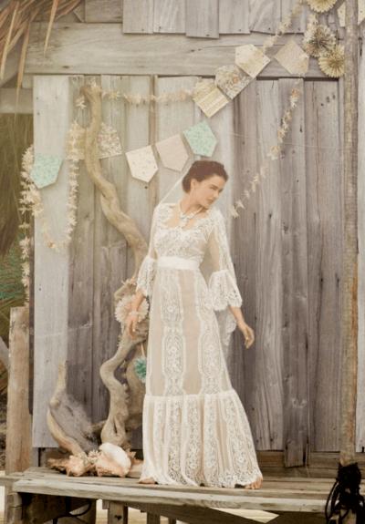 свадебные платья бохо шик