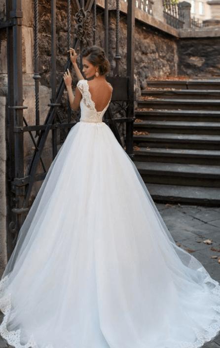 фото кружевных свадебных платьев пышных
