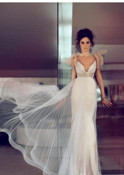 свадебная кремовые платья фото