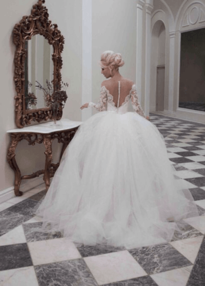 свадебное платье принцесса фото